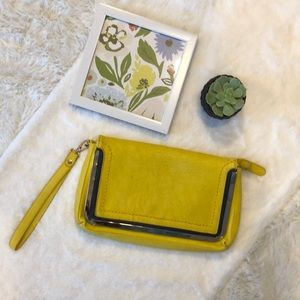 Shiraleah Yellow Vegan Leather Clutch